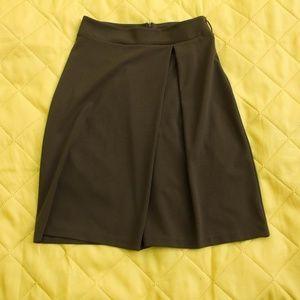 Military Green Midi Skirt